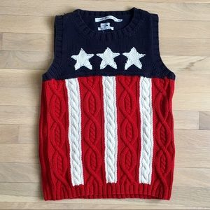 Tommy Hilfiger cable knit American sweater vest